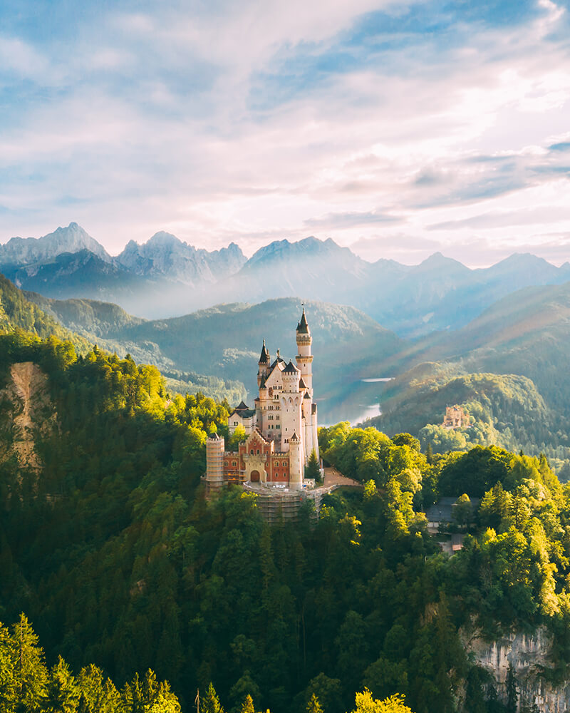 View of Neuschwanstein castle, top things to do in bavaria in summer
