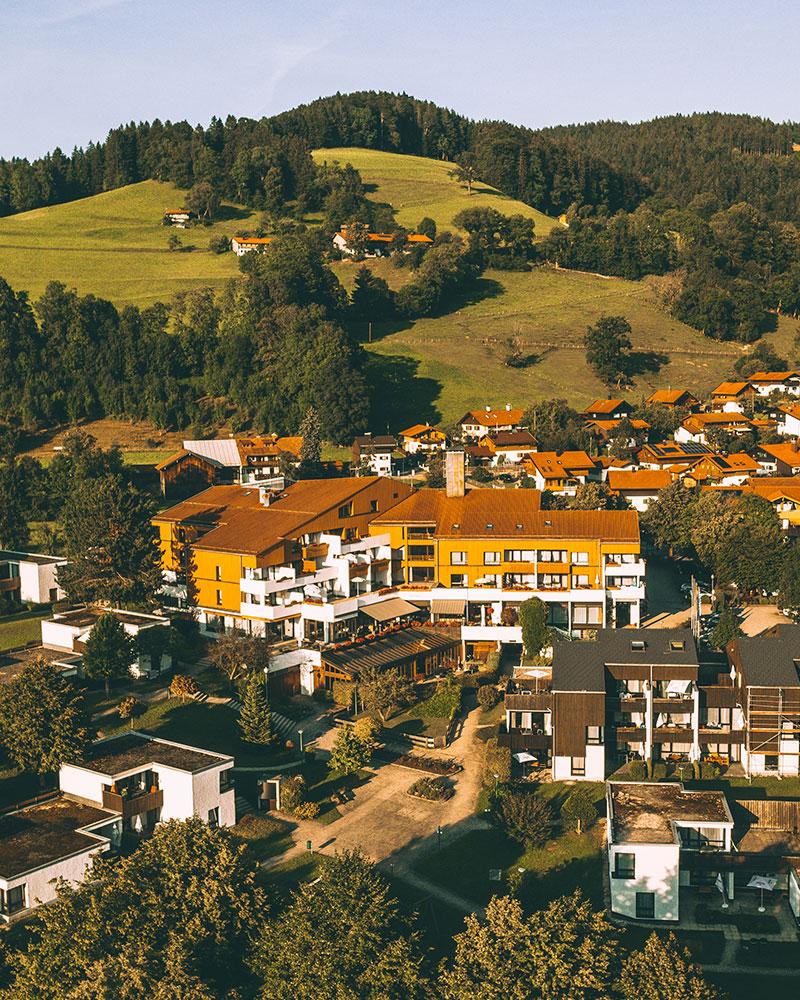 Karma Bavaria hotel drone shot