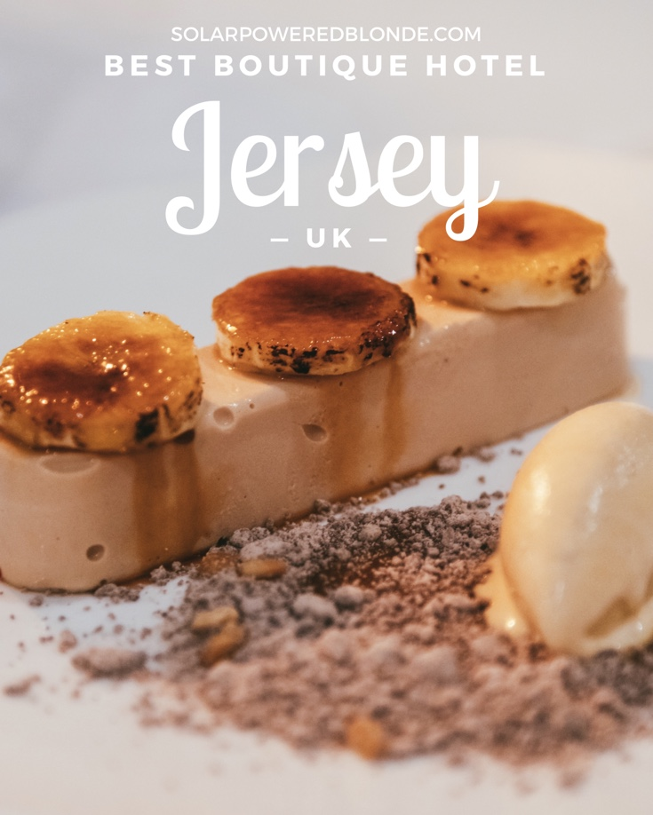 Pinterest graphic to pin about the best boutique hotels in Jersey