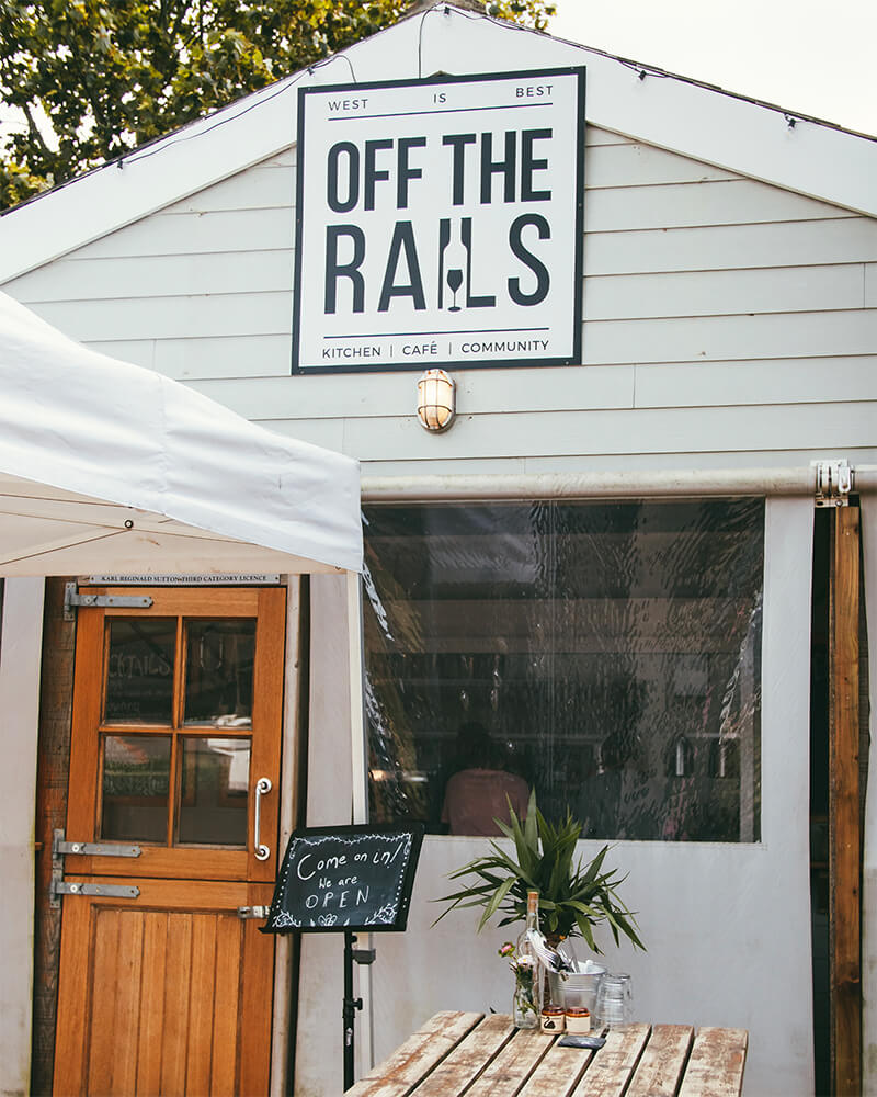 The exterior of Off the Rails Jersey