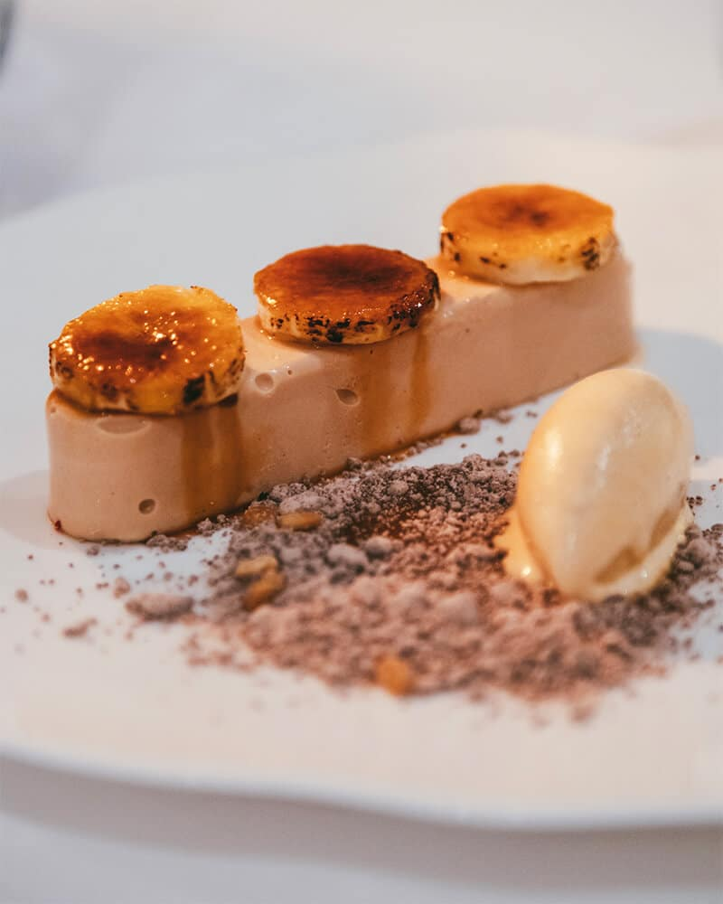 Dessert at The Atlantic Hotel in Jersey, best Jersey pubs and restaurants for a romantic meal