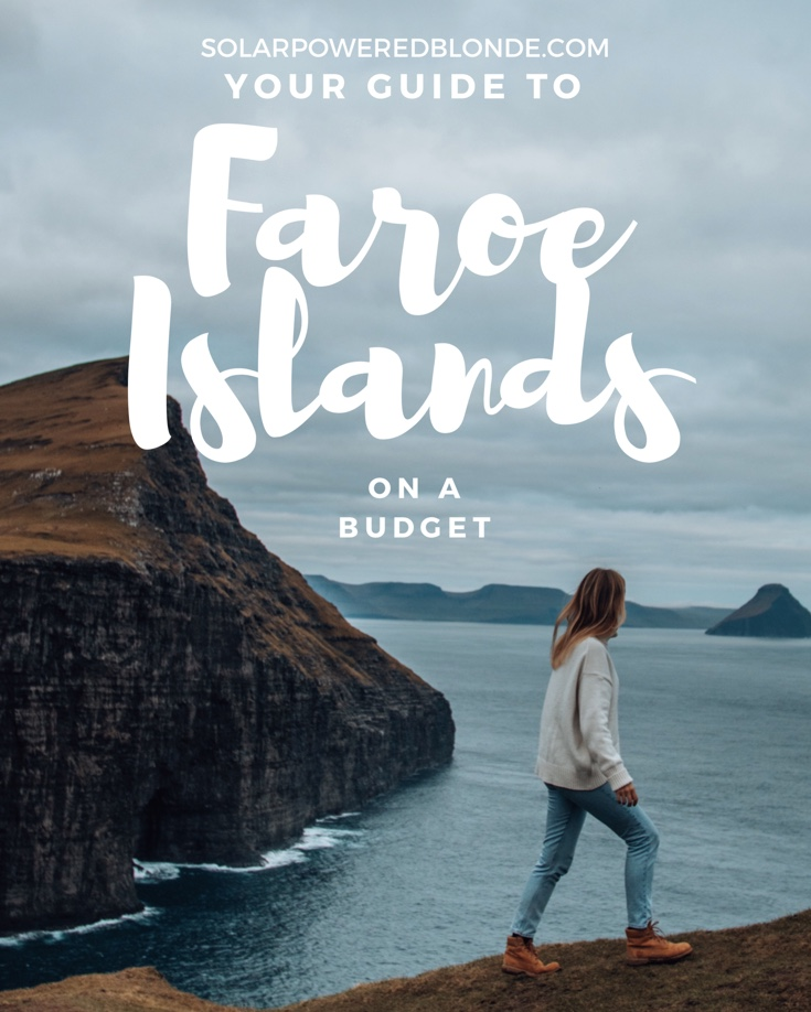 Me walking along with mountains behind in the Faroe Islands