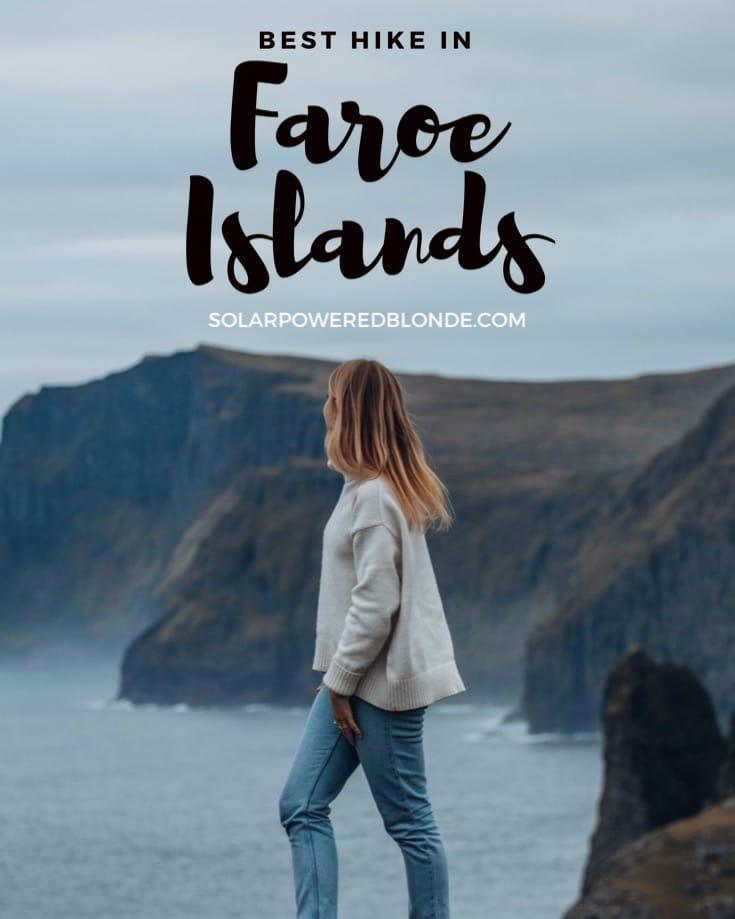 The best hike in the Faroe Islands - me walking along it