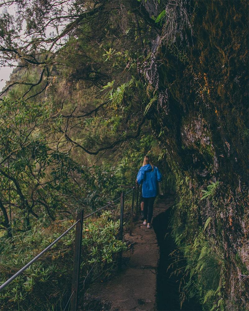 Me walking along at Levada Caldeirao Verde Madeira