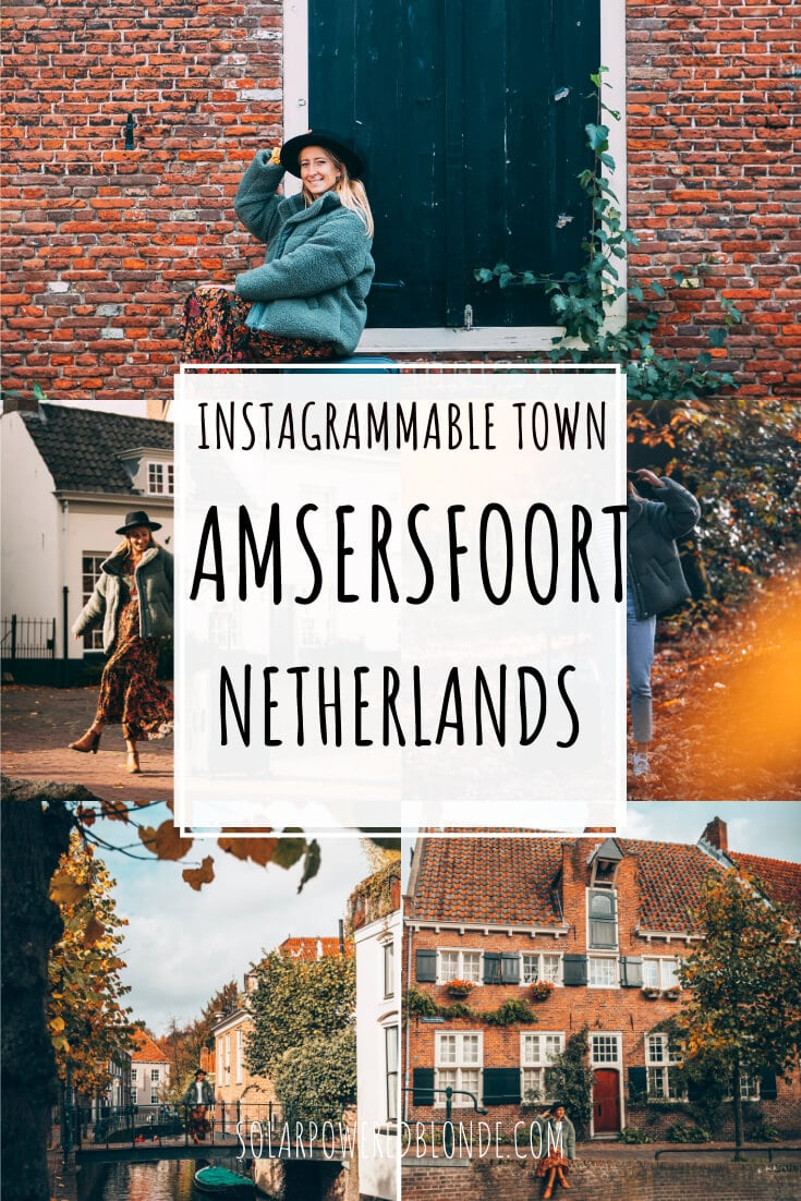 Collage of photos from Amersfoort Netherlands - with text overlay