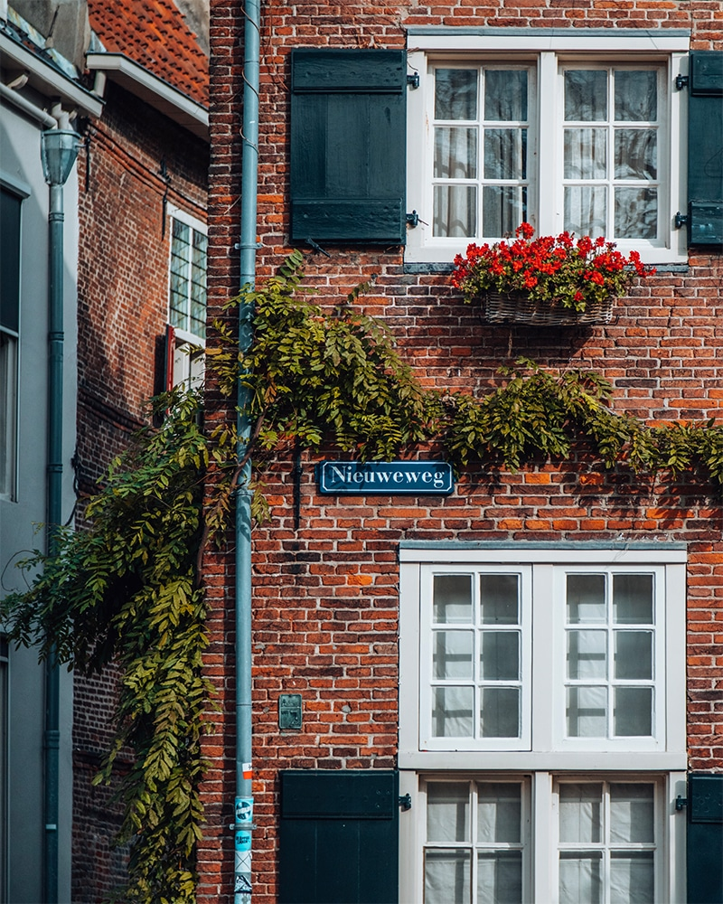 A brick house in Amersfoort