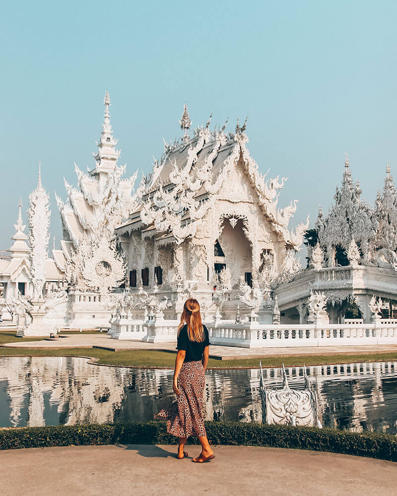 Me in front of a temple in Thailand!