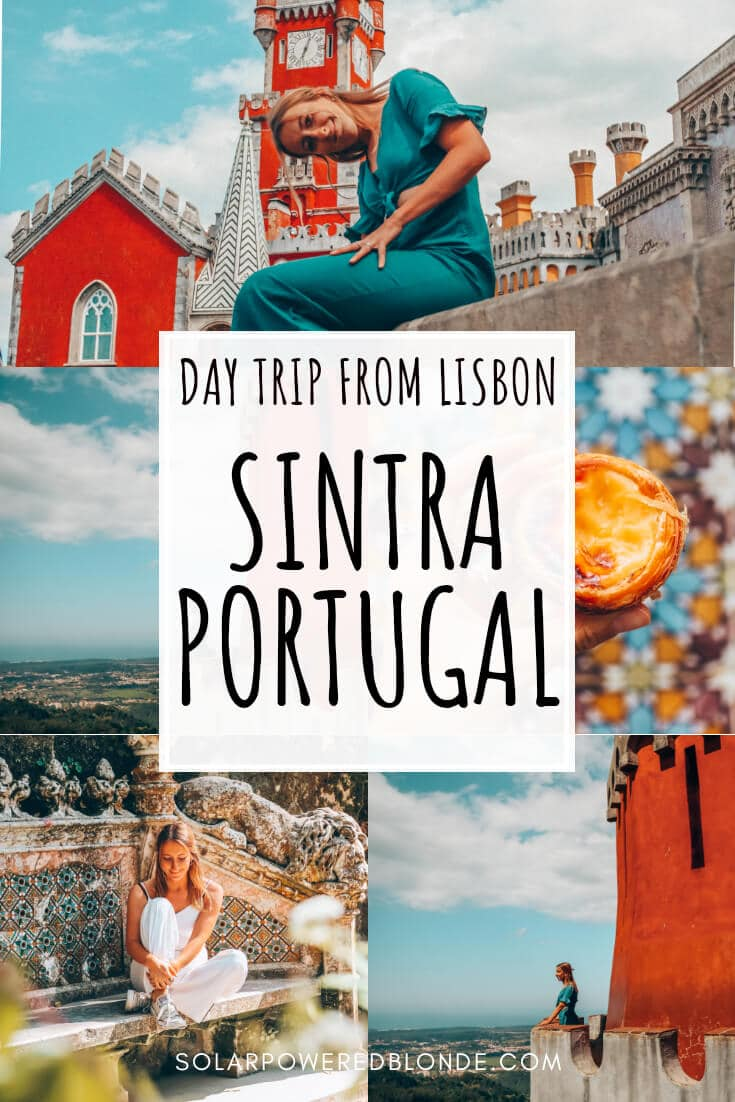 Lisbon and Sintra day trip ideas - castles and more with text overlay