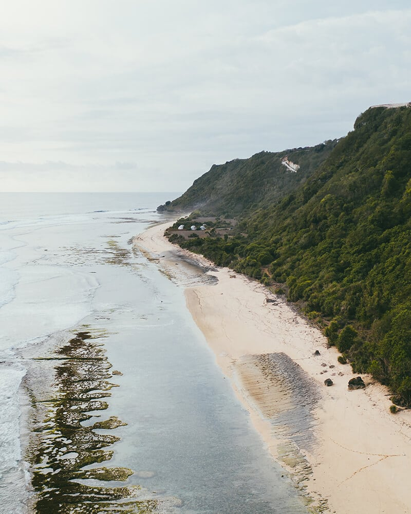 Nyang Nyang beach in Uluwatu from the drone