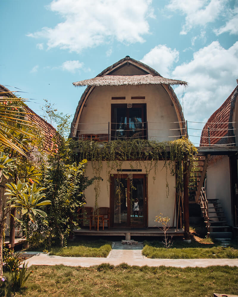 Tentacle Bali Hotel on Nusa Penida - small wooden hut