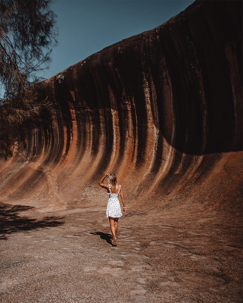 Me walking through wave rock in Western Australia