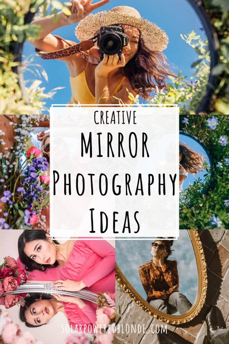 A collage of mirror photography images with text overlay