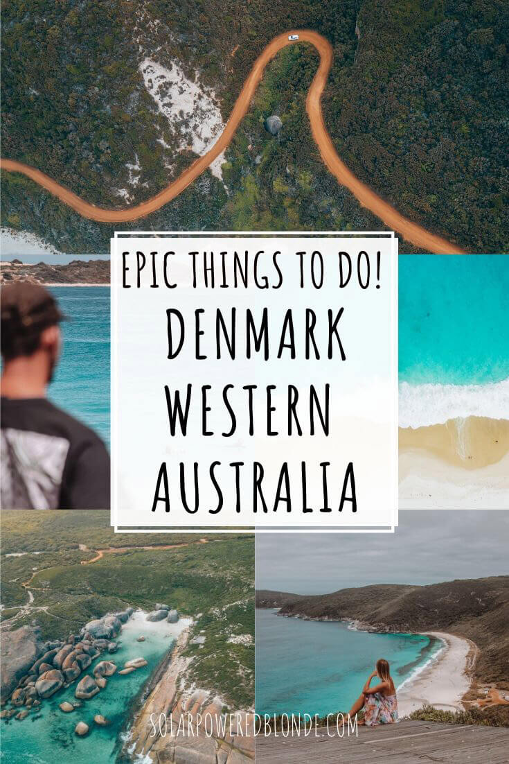 A collage of images from Elelphant Rocks, Greens Pool and Shelley Beach in Denmark, WA! With text overlay