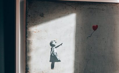 Girl with the balloon - Banksy artwork at Moco Museum Amsterdam