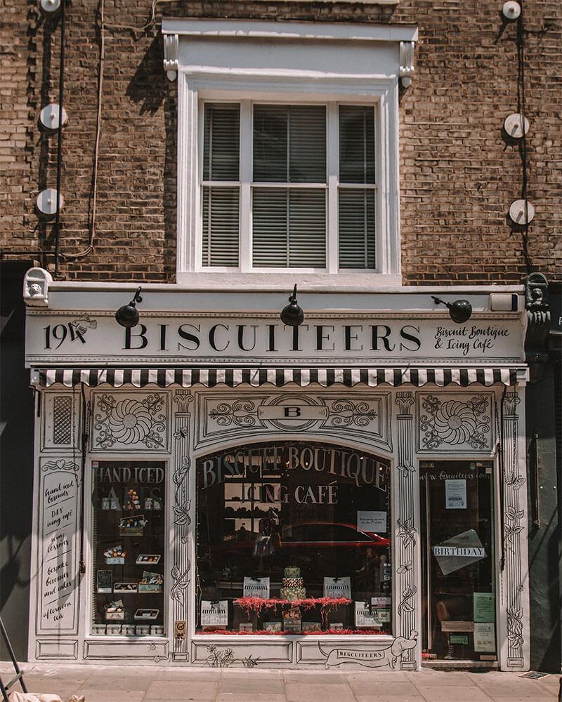 Biscuiteers cafe in Portobello Road