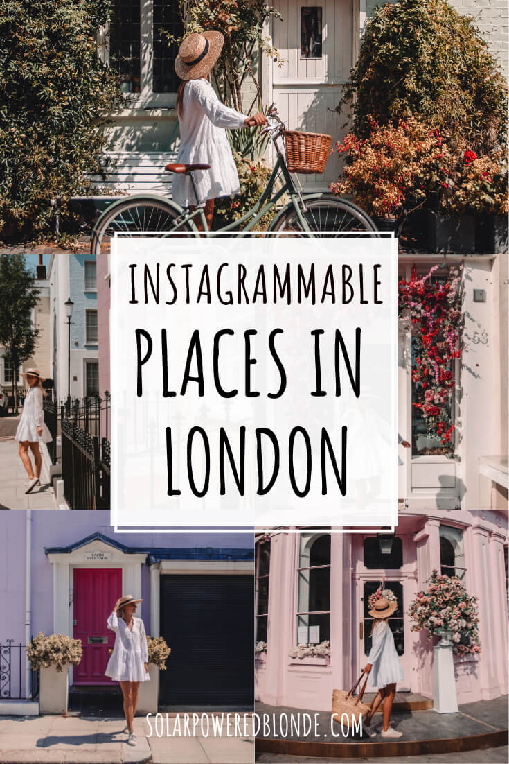 Collage of images of instagrammable places in London with text overlay
