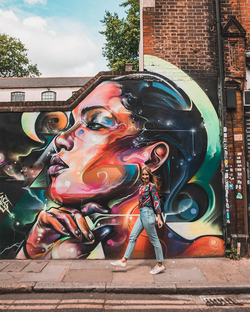 Fashion Street it London street art by Jimmy C