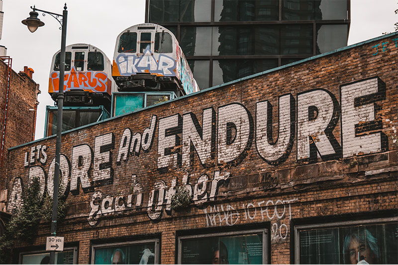 Let's adore and endure each other, Great Eastern Street art