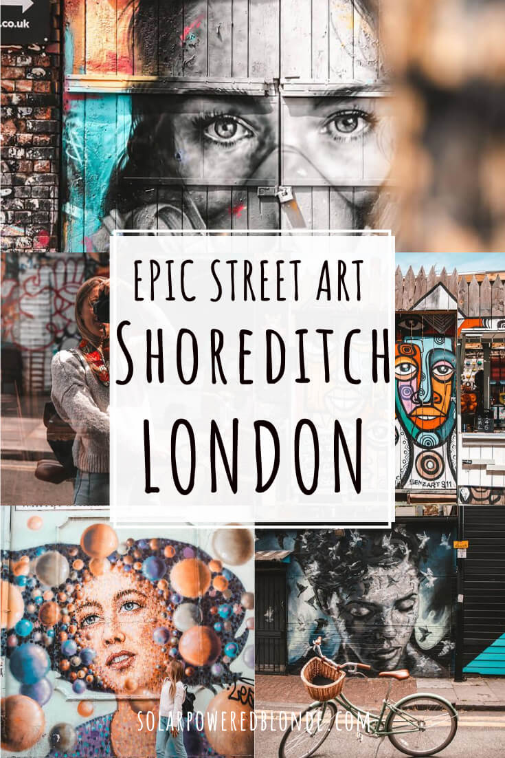 Collage of images from Brick Lane and Shoreditch with text overlay