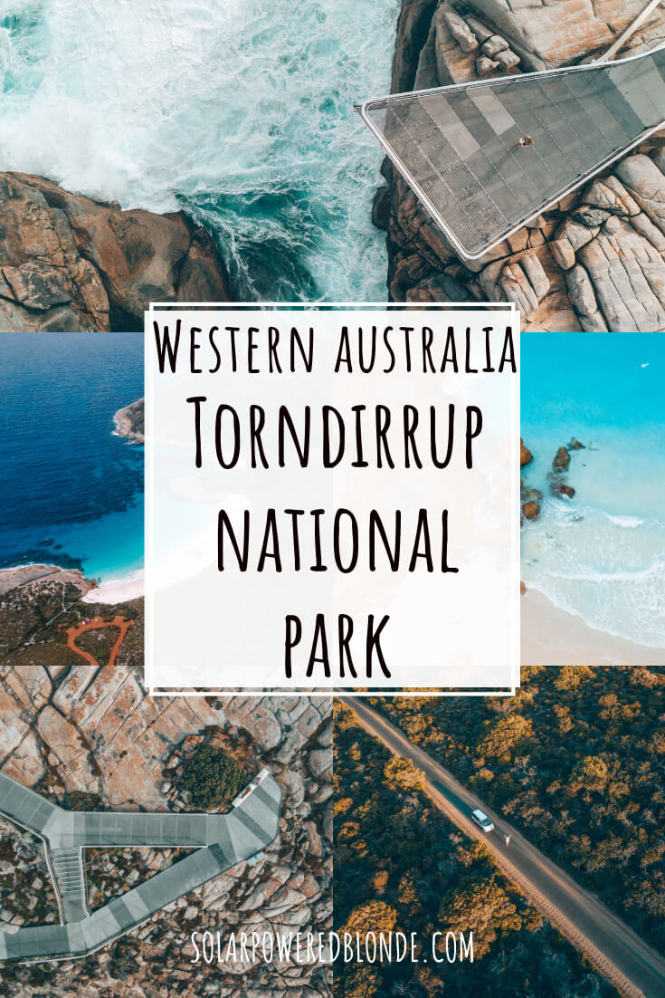 Western Australia Road Trip photos of Torndirrup National Park and Albany with text overlay