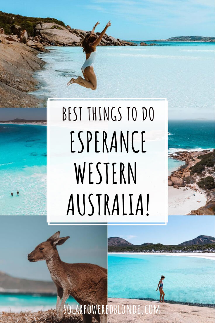Collage of images from Esperance Western Australia with text overlay