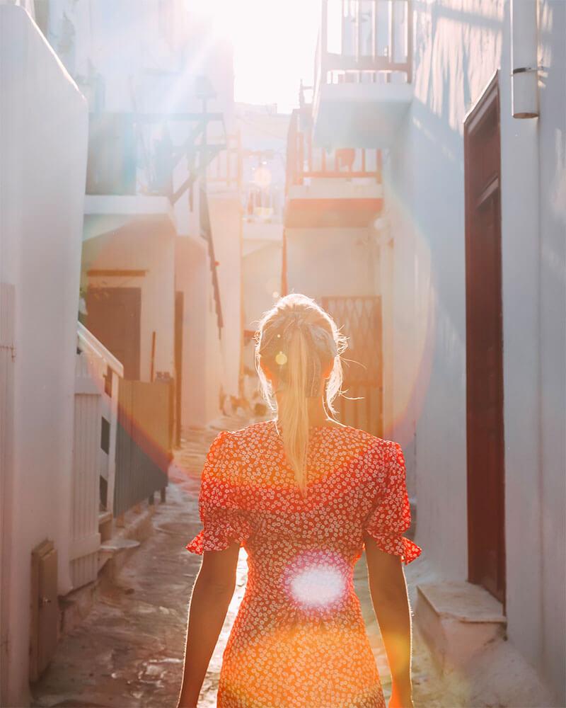 Solarpoweredblonde in Mykonos