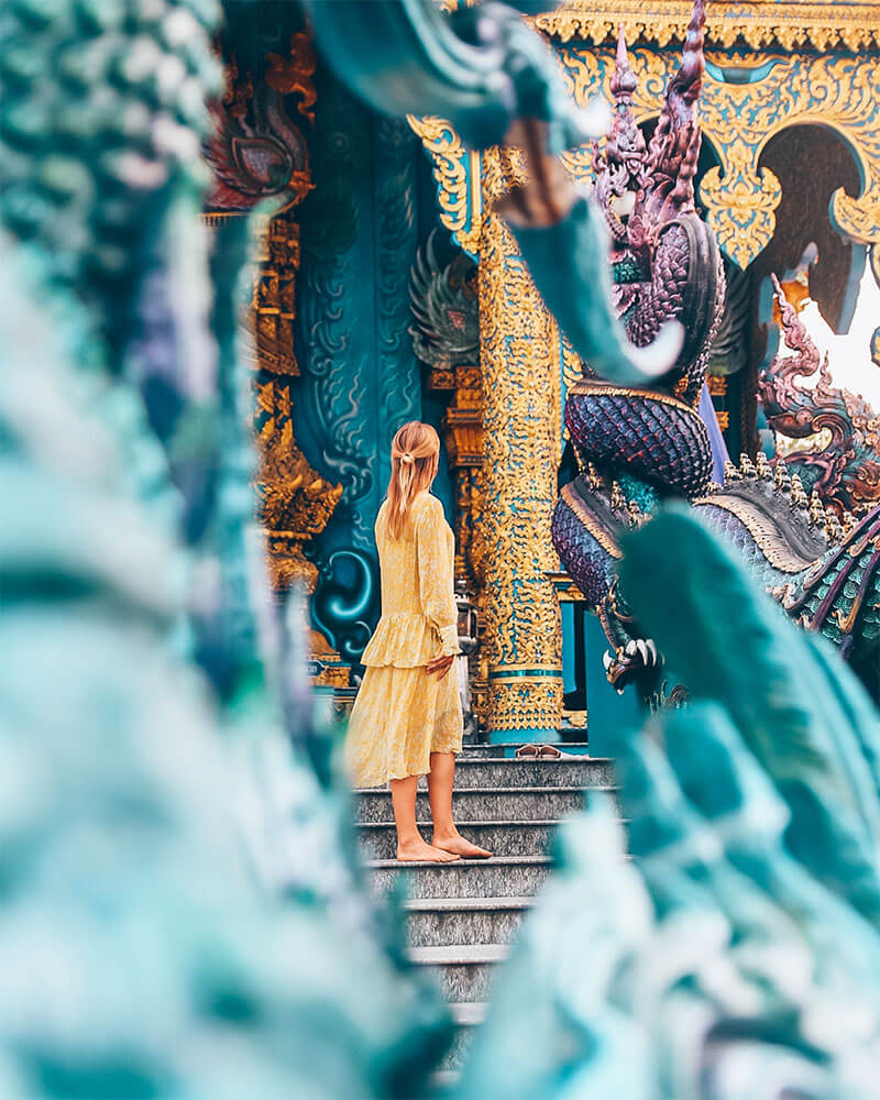 Photo in Thailand of a temple in Chiang Rai