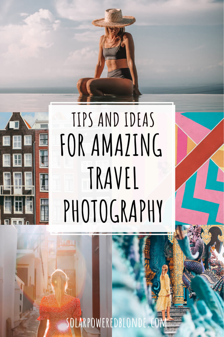 Collage of images for travel photography tips Pinterest graphic with text overlay