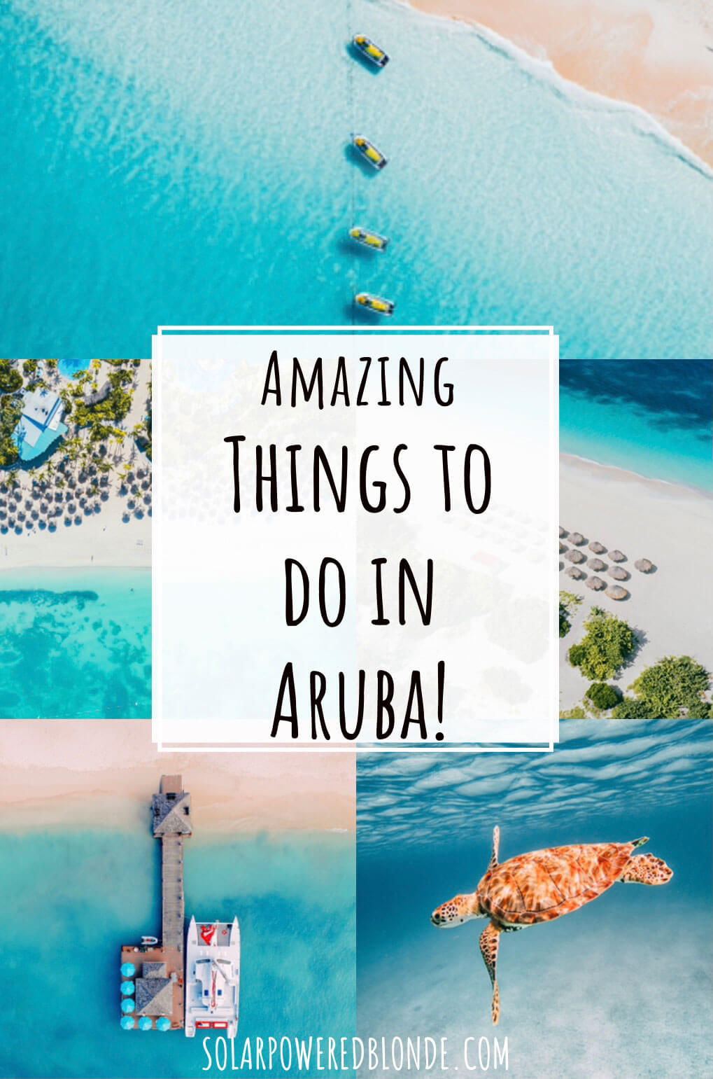 Photos from Aruba for a pinterest graphic