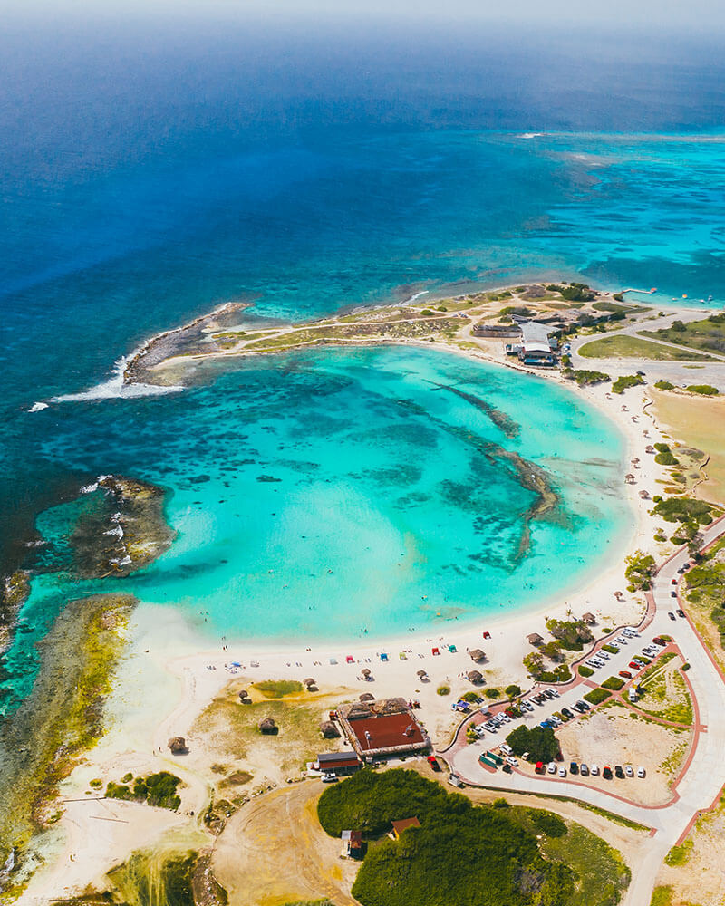 Drone shot of Baby beach