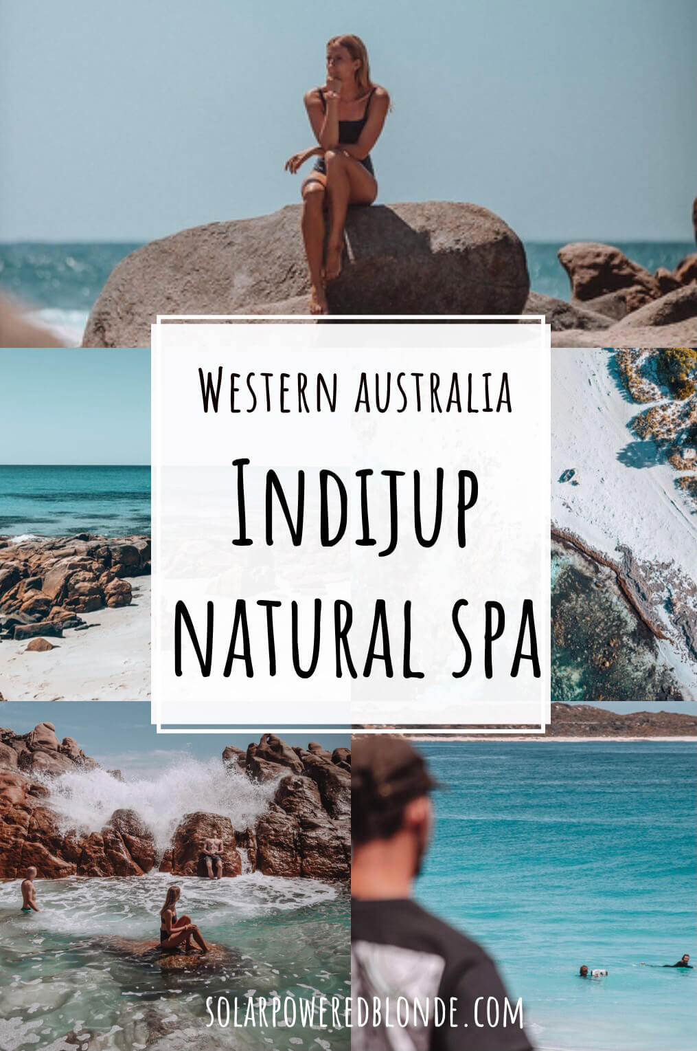 Indijup Natural Spa photos of Western Australia with text overlay