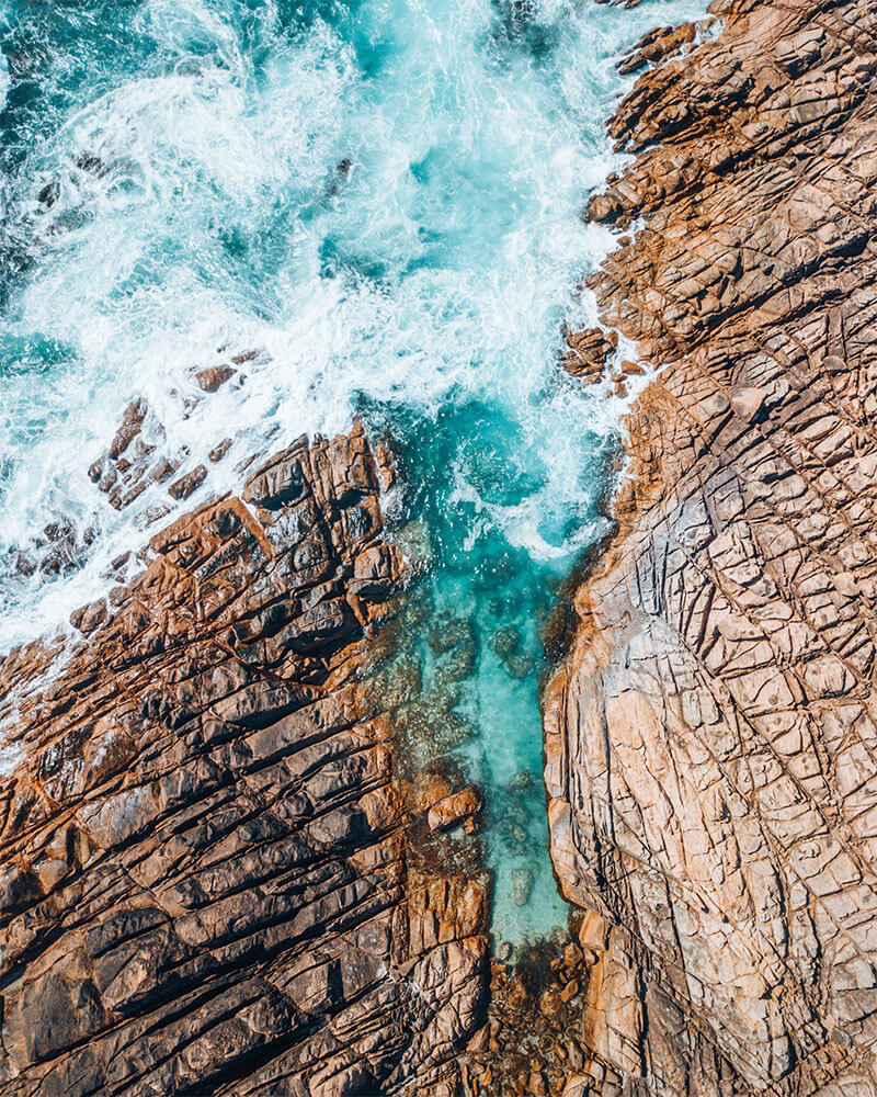 Drone shot of Canal Rocks