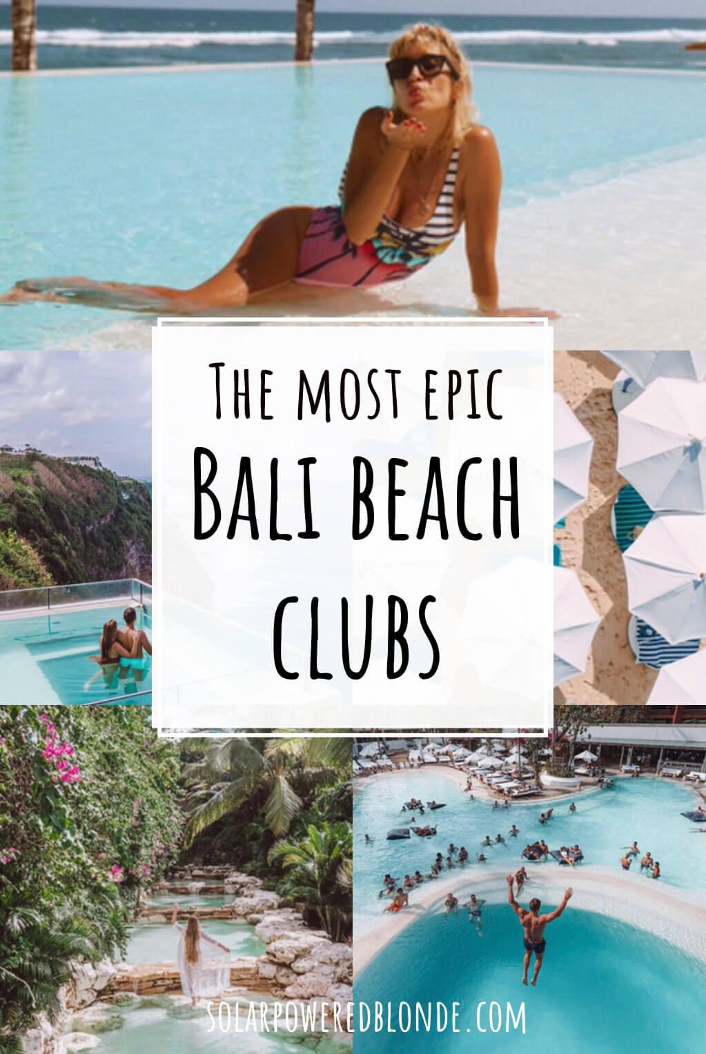 Best beach clubs in bali pinterest graphic