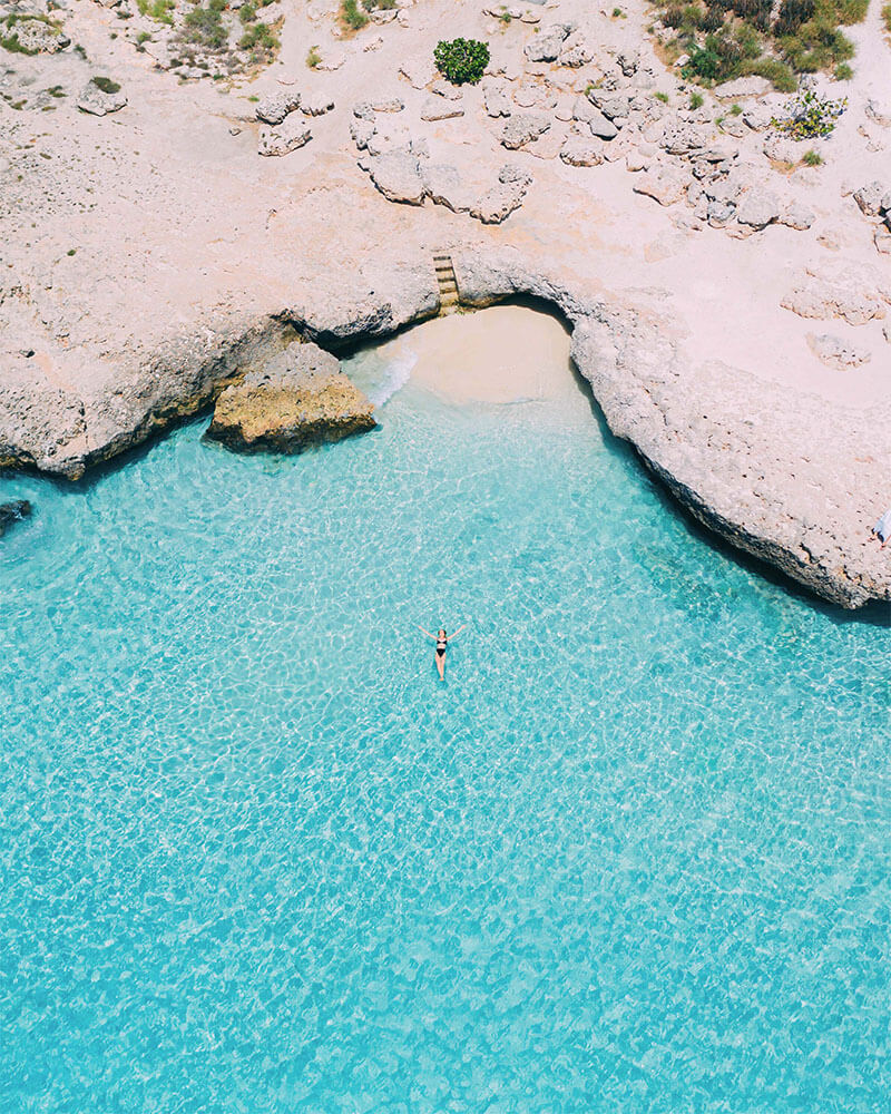 Drone shot of Tres Trapi beach