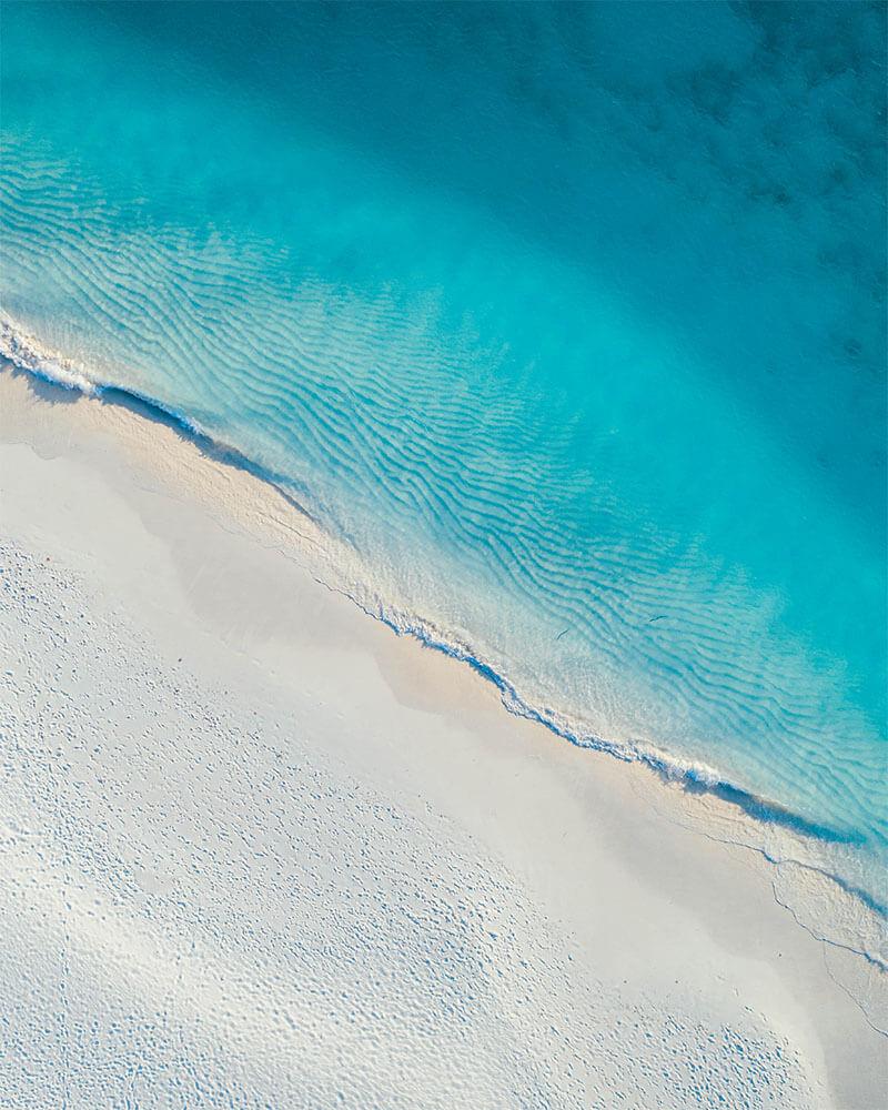 drone shot of Palm beach aruba