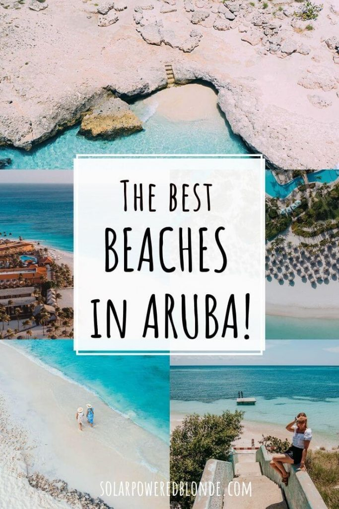 Pinterest graphic about the best beaches in Aruba