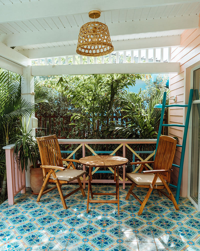 Outdoor space at a casita in Aruba