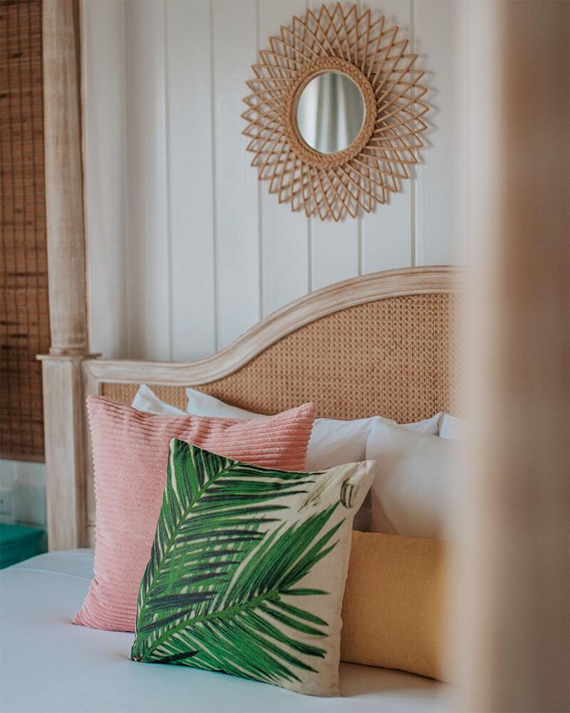 A bedroom at the Boardwalk Hotel Aruba